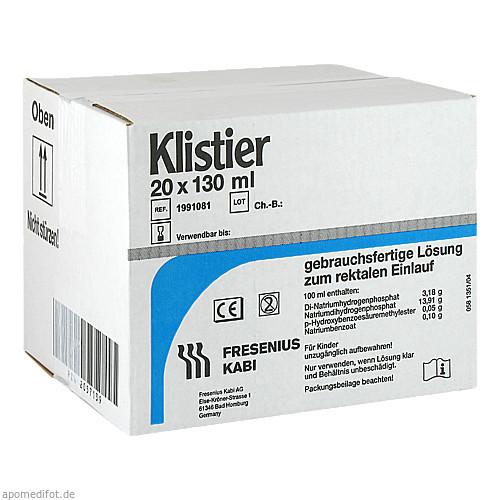 KLISTIER, 20X130 ML, Fresenius Kabi Deutschland GmbH