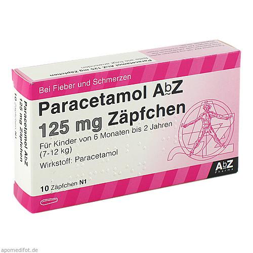 Paracetamol AbZ 125mg Zäpfchen, 10 ST, Abz-Pharma GmbH
