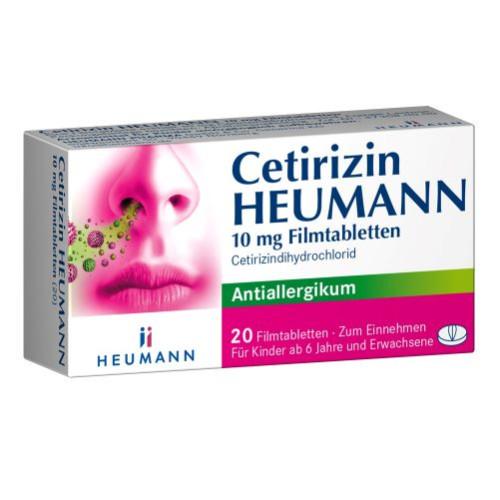 Cetirizin Heumann 10mg Filmtabletten, 20 ST, Heumann Pharma GmbH & Co. Generica KG