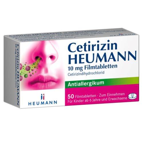 Cetirizin Heumann 10mg Filmtabletten, 50 ST, Heumann Pharma GmbH & Co. Generica KG
