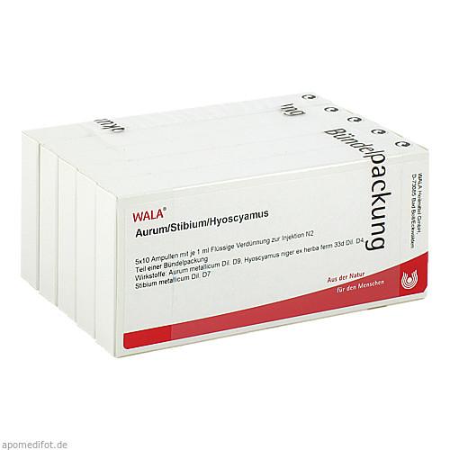 AURUM/STIBIUM/HYOSCYAMUS, 50X1 ML, Wala Heilmittel GmbH