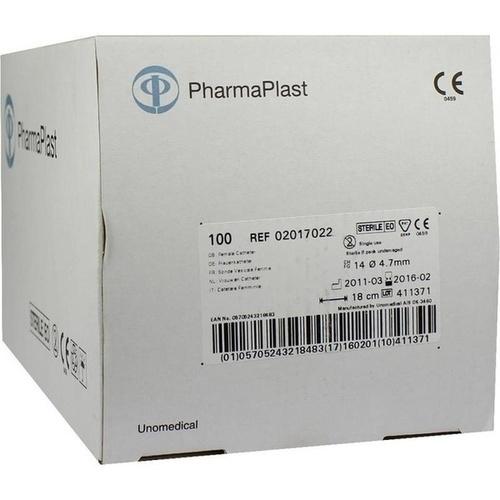 Frauenkatheter 18cm CH 14 geschl. Spitze 2 Augen, 100 ST, Ehrhardt-Medizinprodukte GmbH