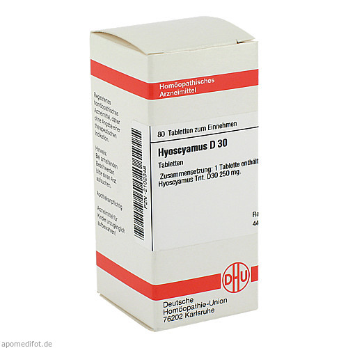HYOSCYAMUS D30, 80 ST, Dhu-Arzneimittel GmbH & Co. KG