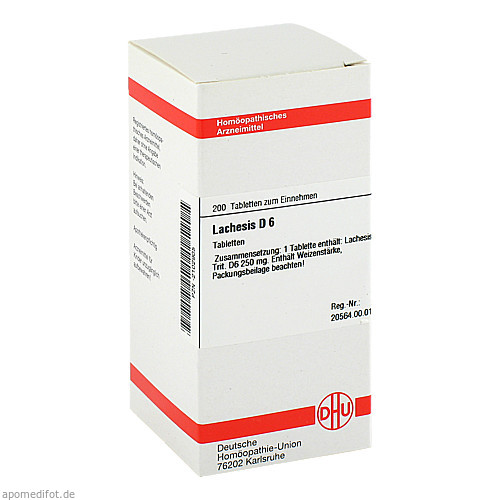 LACHESIS D 6, 200 ST, Dhu-Arzneimittel GmbH & Co. KG