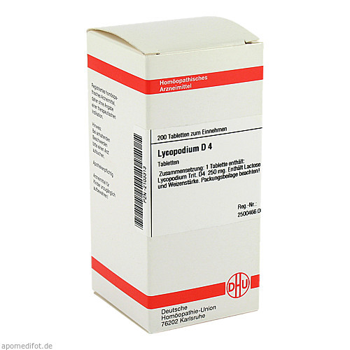 LYCOPODIUM D 4, 200 ST, Dhu-Arzneimittel GmbH & Co. KG