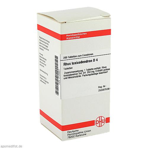 RHUS TOX D 4, 200 ST, Dhu-Arzneimittel GmbH & Co. KG