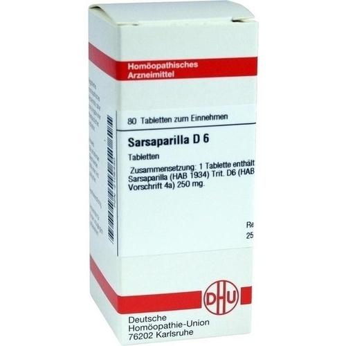 SARSAPARILLA D 6, 80 ST, Dhu-Arzneimittel GmbH & Co. KG