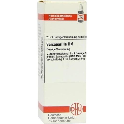 SARSAPARILLA D 6, 20 ML, Dhu-Arzneimittel GmbH & Co. KG