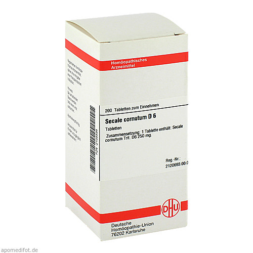 SECALE CORNUT D 6, 200 ST, Dhu-Arzneimittel GmbH & Co. KG