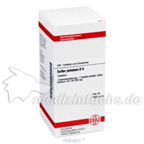SULFUR JODAT D 6, 200 ST, Dhu-Arzneimittel GmbH & Co. KG