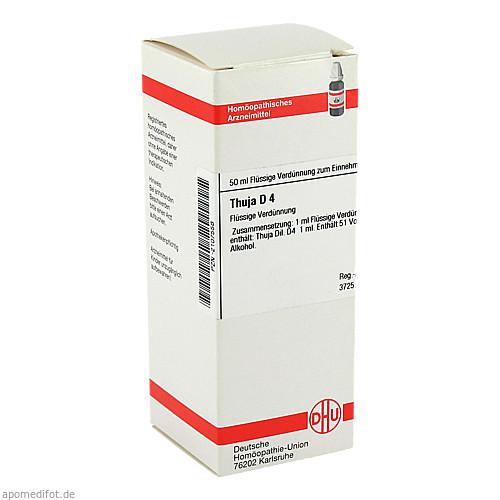THUJA D 4, 50 ML, Dhu-Arzneimittel GmbH & Co. KG