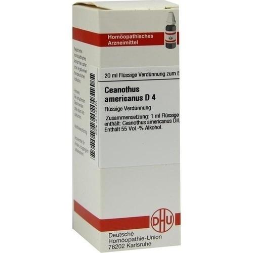 CEANOTHUS AMERICANUS D 4, 20 ML, Dhu-Arzneimittel GmbH & Co. KG