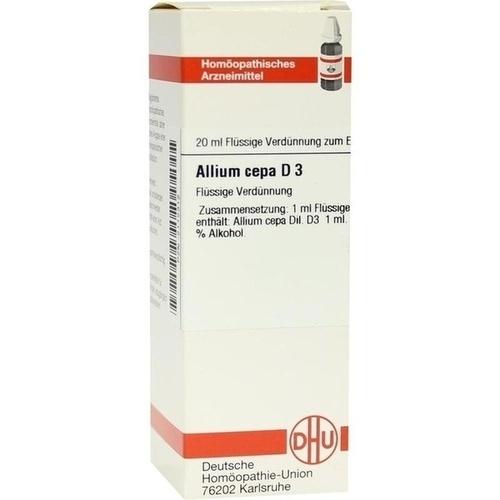 ALLIUM CEPA D 3, 20 ML, Dhu-Arzneimittel GmbH & Co. KG