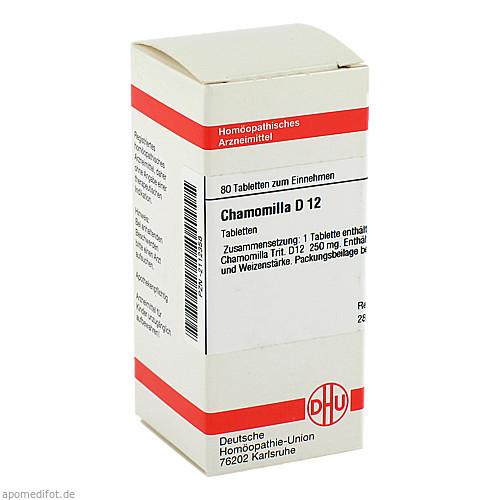 CHAMOMILLA D12, 80 ST, Dhu-Arzneimittel GmbH & Co. KG