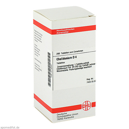 CHELIDONIUM D 4, 200 ST, Dhu-Arzneimittel GmbH & Co. KG