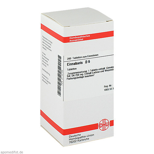 CINNABARIS D 6, 200 ST, Dhu-Arzneimittel GmbH & Co. KG