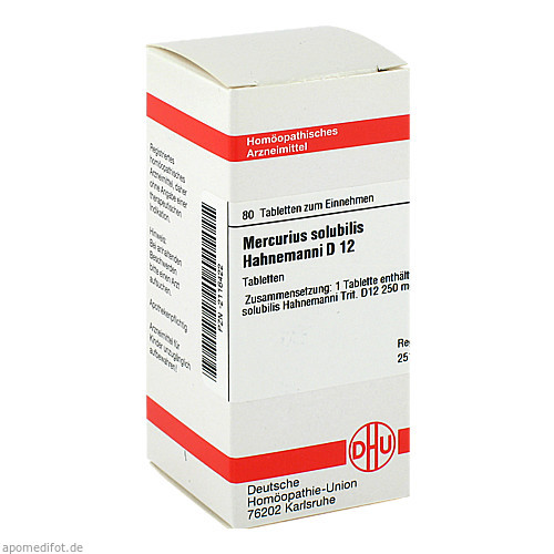 MERCURIUS SOLUB HAHNEM D12, 80 ST, Dhu-Arzneimittel GmbH & Co. KG