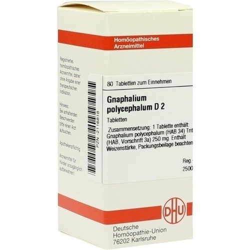GNAPHALIUM POLYC D 2, 80 ST, Dhu-Arzneimittel GmbH & Co. KG