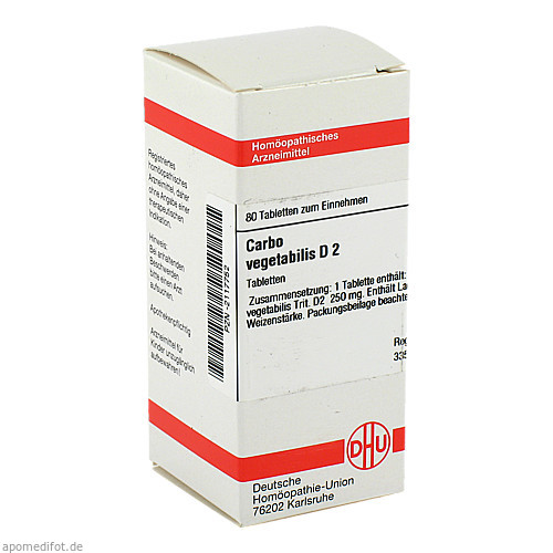 CARBO VEG D 2, 80 ST, Dhu-Arzneimittel GmbH & Co. KG