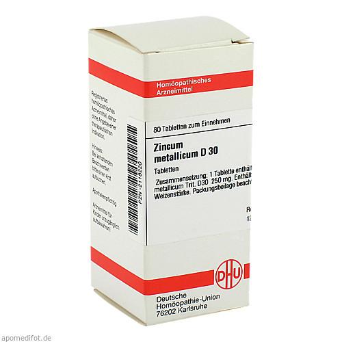 ZINCUM MET D30, 80 ST, Dhu-Arzneimittel GmbH & Co. KG