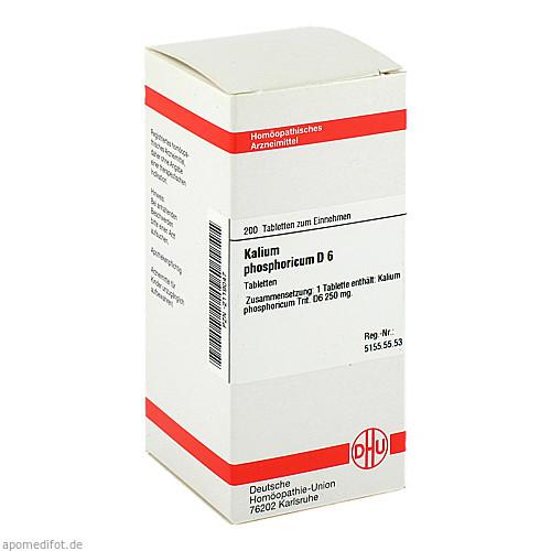 KALIUM PHOSPHORICUM D 6 Tabletten, 200 ST, DHU-Arzneimittel GmbH & Co. KG