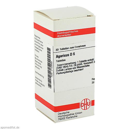 AGARICUS D 6, 80 ST, Dhu-Arzneimittel GmbH & Co. KG