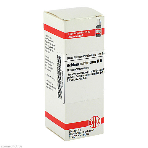 ACIDUM SULF D 6, 20 ML, Dhu-Arzneimittel GmbH & Co. KG