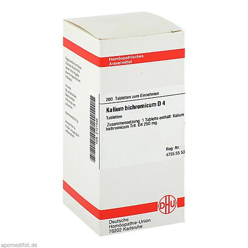 KALIUM BICHROM D 4, 200 ST, Dhu-Arzneimittel GmbH & Co. KG