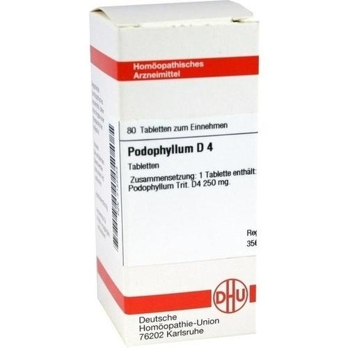 PODOPHYLLUM D 4, 80 ST, Dhu-Arzneimittel GmbH & Co. KG