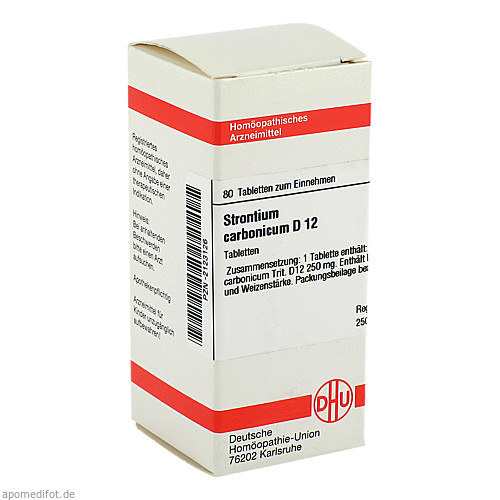 STRONTIUM CARBONICUM D12, 80 ST, Dhu-Arzneimittel GmbH & Co. KG