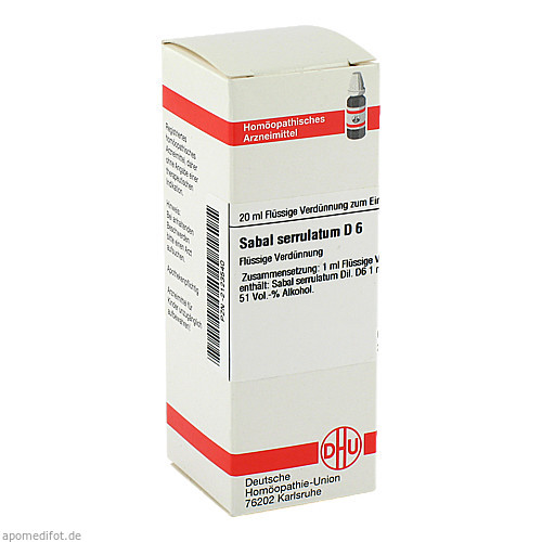 SABAL SERRUL D 6, 20 ML, Dhu-Arzneimittel GmbH & Co. KG