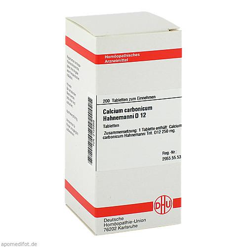 CALCIUM CARB HAHNEM D12, 200 ST, Dhu-Arzneimittel GmbH & Co. KG