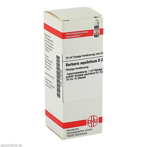 BERBERIS AQUIF D 3, 20 ML, Dhu-Arzneimittel GmbH & Co. KG