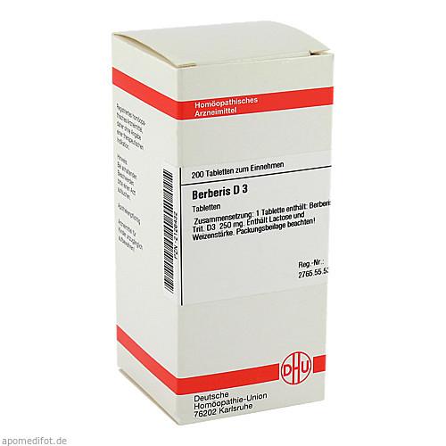 BERBERIS D 3, 200 ST, Dhu-Arzneimittel GmbH & Co. KG