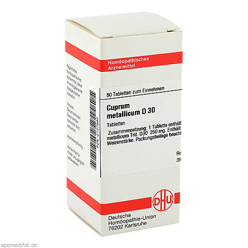 CUPRUM MET D30, 80 ST, Dhu-Arzneimittel GmbH & Co. KG