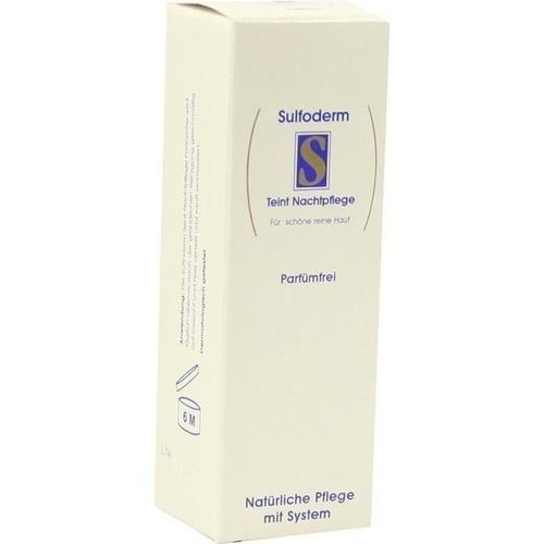 SULFODERM S TEINT NACHTPFLEGE parfümfrei, 40 ML, Ecos Vertriebs GmbH