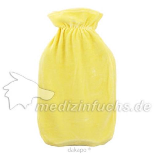 WAERMFLASCHE Halblamelle mit Bezug gelb, 2 L, Dr. Junghans Medical GmbH