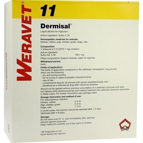 DERMISAL 11 Ampullen vet., 100X2 ML, Biokanol Pharma GmbH