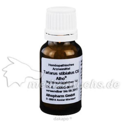 ANTIMONIUM TARTAR C 6, 15 G, Alhopharm Arzneimittel GmbH