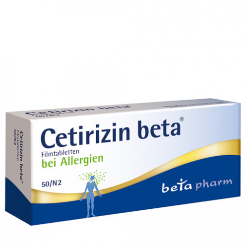 Cetirizin beta, 50 ST, betapharm Arzneimittel GmbH