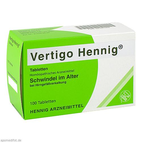 Vertigo Hennig Tabletten, 100 ST, Hennig Arzneimittel GmbH & Co. KG