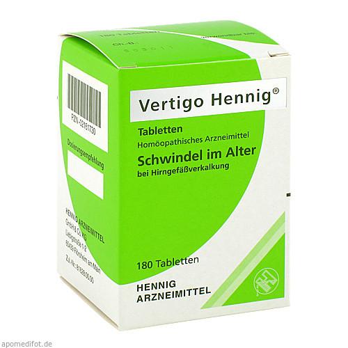 Vertigo Hennig Tabletten, 180 ST, Hennig Arzneimittel GmbH & Co. KG