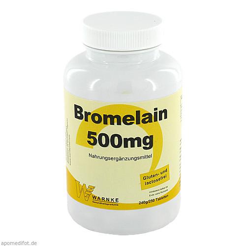 Bromelain 500mg, 250 ST, Warnke Vitalstoffe GmbH