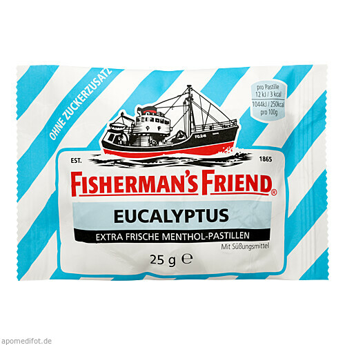 FISHERMANS FRIEND EUCALYPTUS OHNE ZUCKER, 25 G, Queisser Pharma GmbH & Co. KG