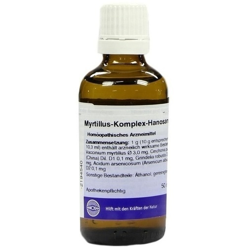 MYRTILLUS KOMPLEX flüssig, 50 ML, HANOSAN GmbH