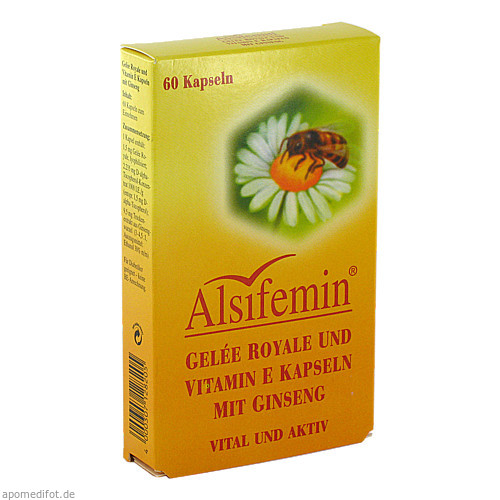 ALSIFEMIN Gelee Royale u. Vit. E. Kaps. m. Ginseng, 60 ST, Alsitan GmbH