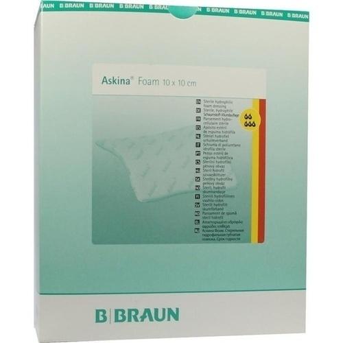 Askina Foam ster.hyd.Wundaufl.10x10cm nicht haft., 10 ST, B. Braun Melsungen AG