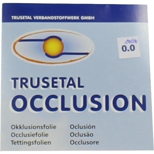 OKKLUSIONSFOLIE blau, 1 ST, Trusetal Verbandstoffwerk GmbH
