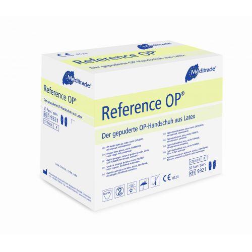 Reference Latex OP Handschuhe steril gepud Gr. 8.5, 100 ST, Meditrade GmbH