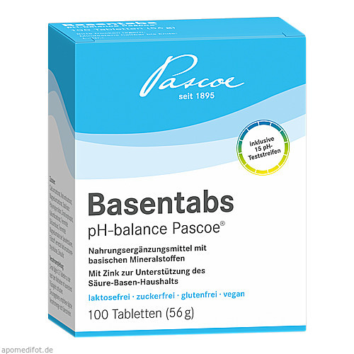 Basentabs pH-balance PASCOE, 100 ST, Pascoe Vital GmbH